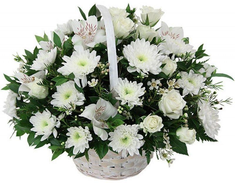Для, новогодние букеты в корзинах из хризантем